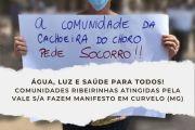 Comunidades Ribeirinhas do rio Paraopeba atingidas pelo crime da Vale S/A fazem manifesto na prefeitura de Curvelo (MG)